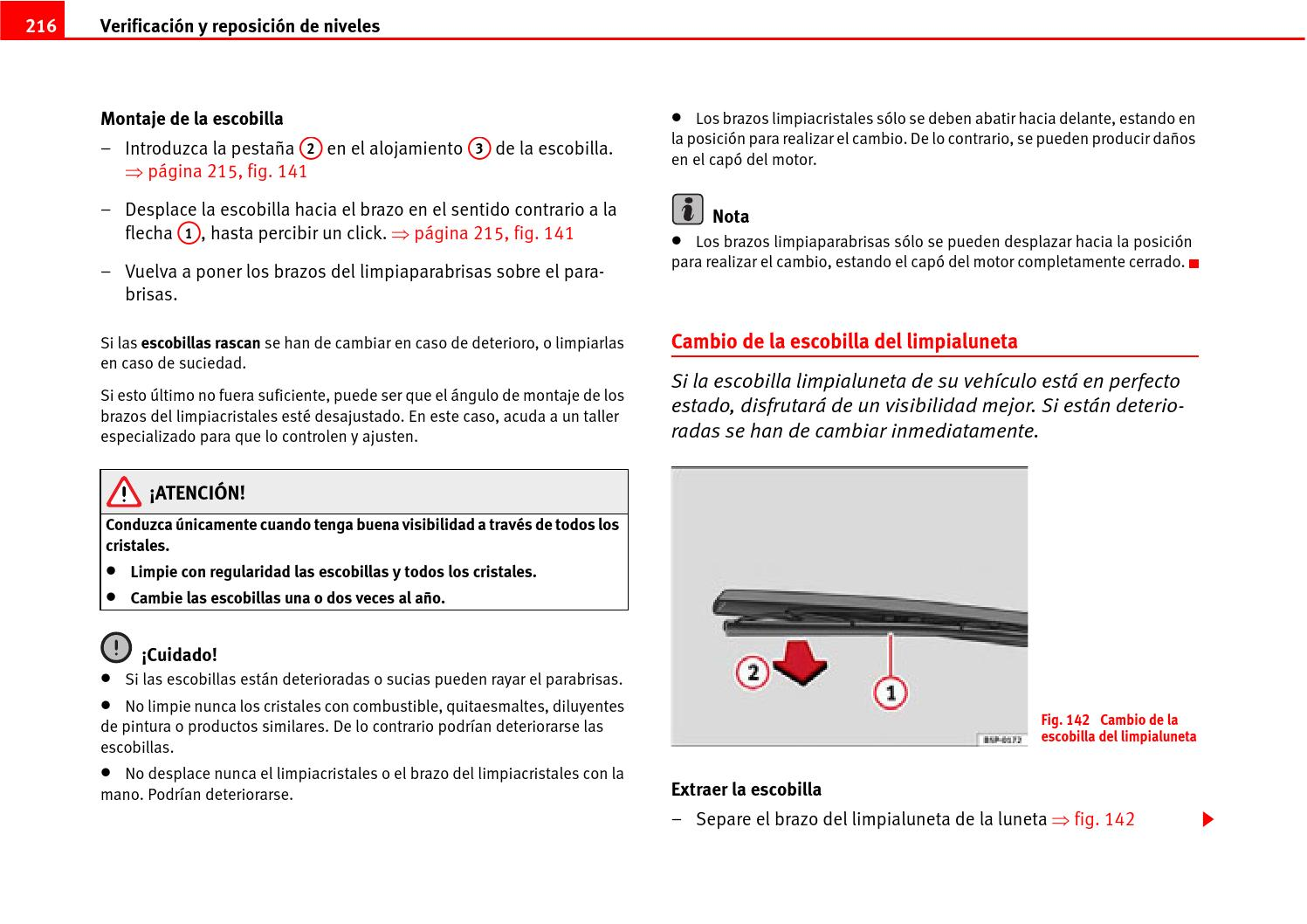 Cambio Escobillas Limpiaparabrisas Seat Manual Instrucciones Seat Leon 2 By Burillo Issuu