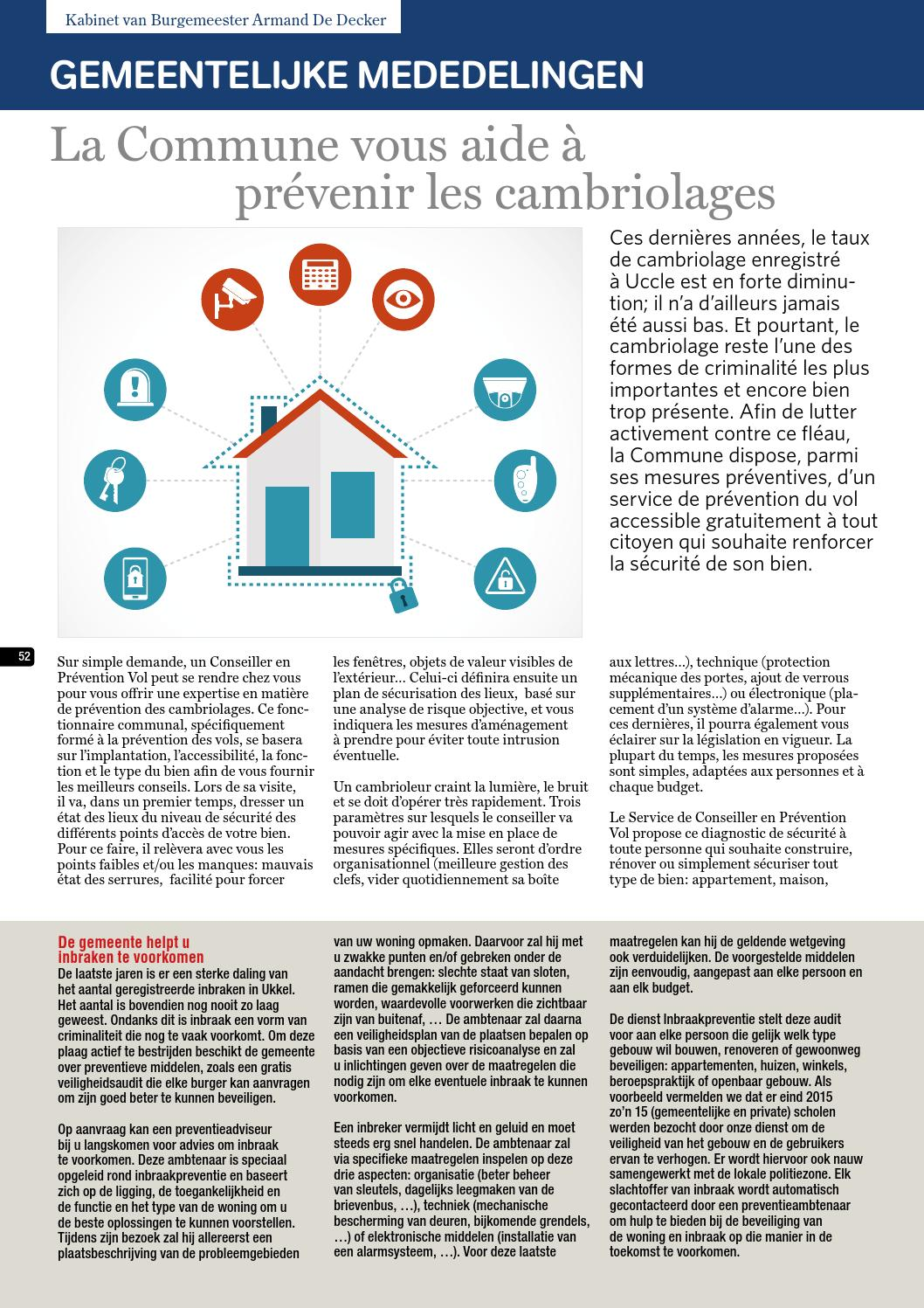 Prevention-maison.fr Wolvendael Magazine N 617 Mars 2016