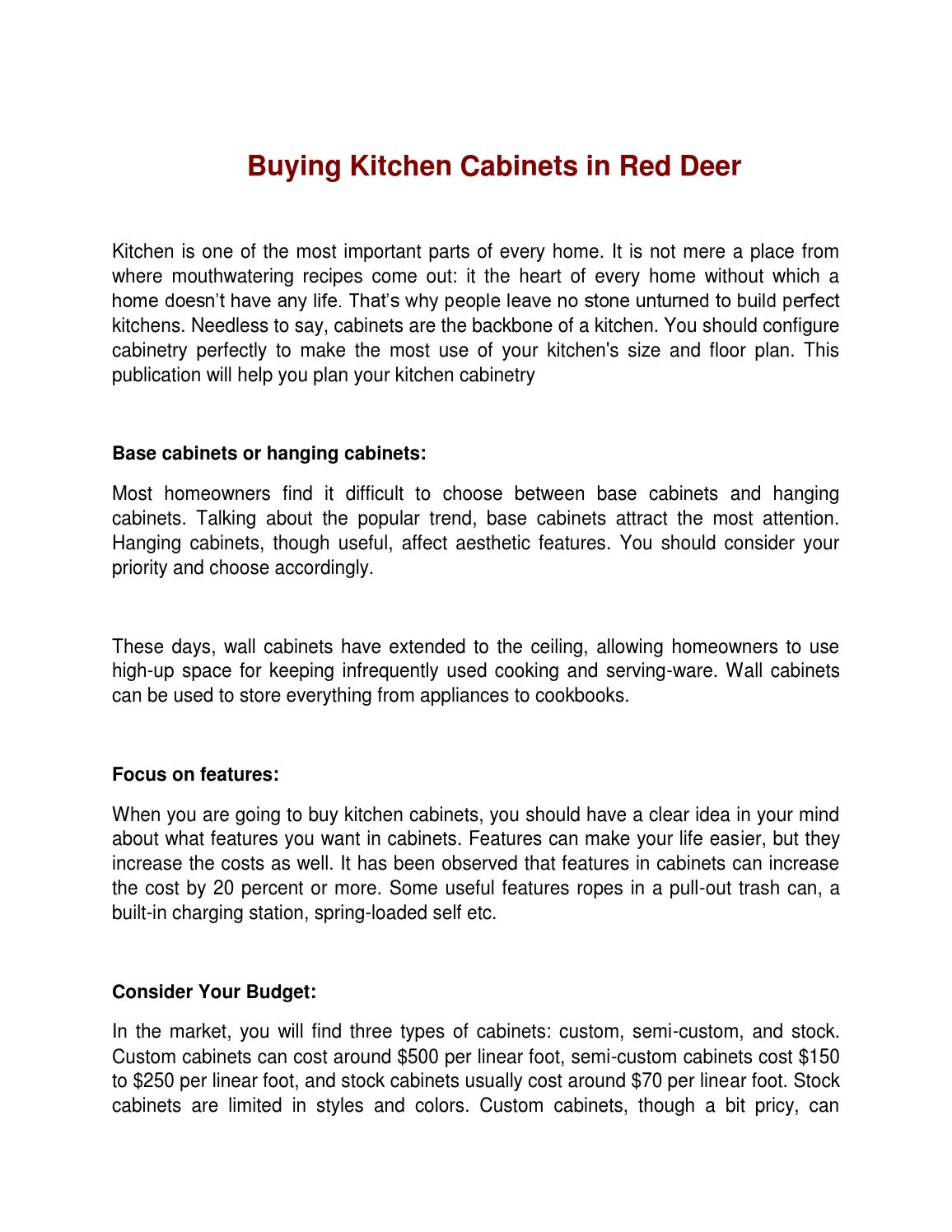 Used Kitchen Cabinets Red Deer Kitchen Cabinets In Red Deer By Kate William Issuu