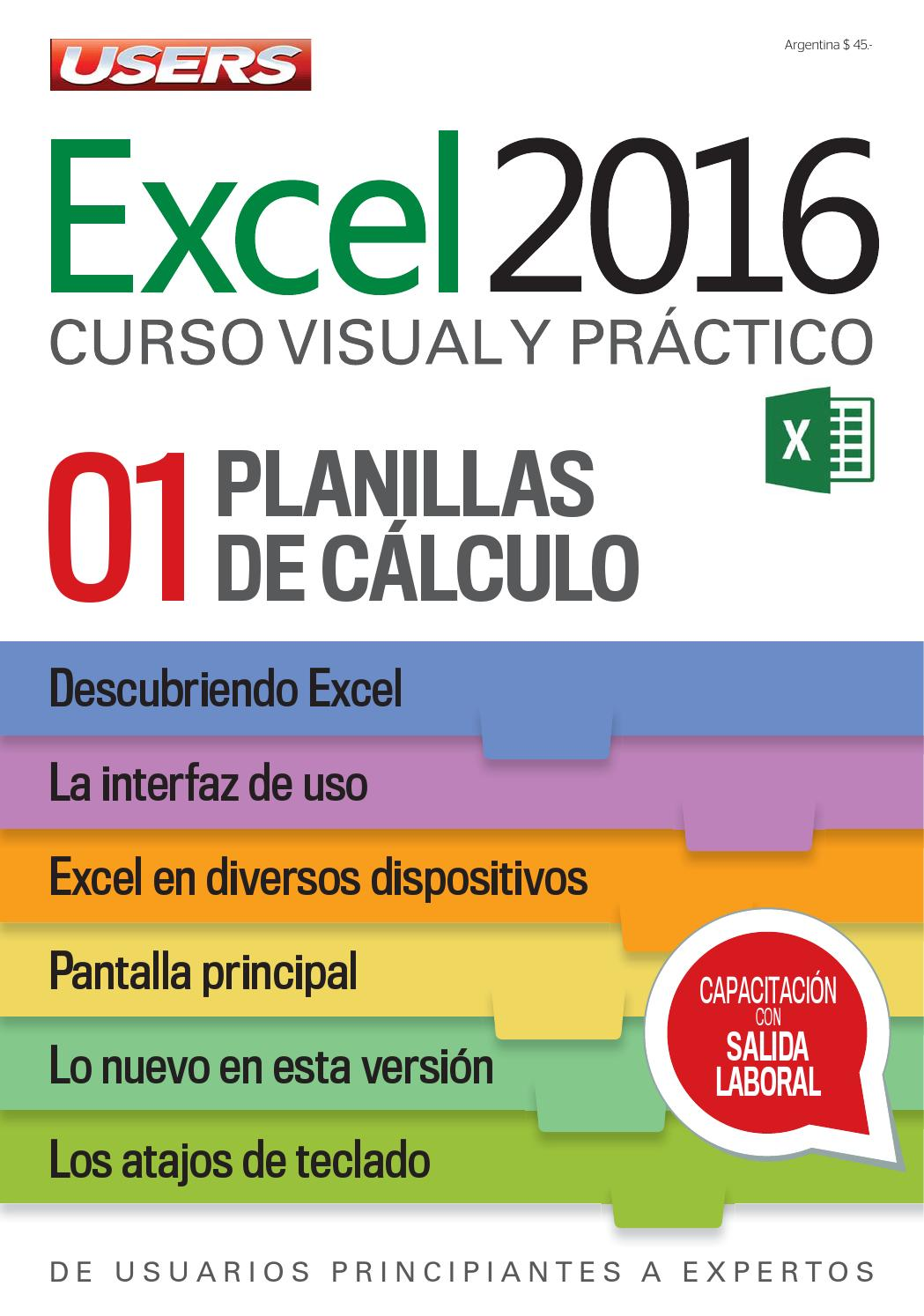 Libros De Excel Gratis Excel 2016 By Redusers Issuu