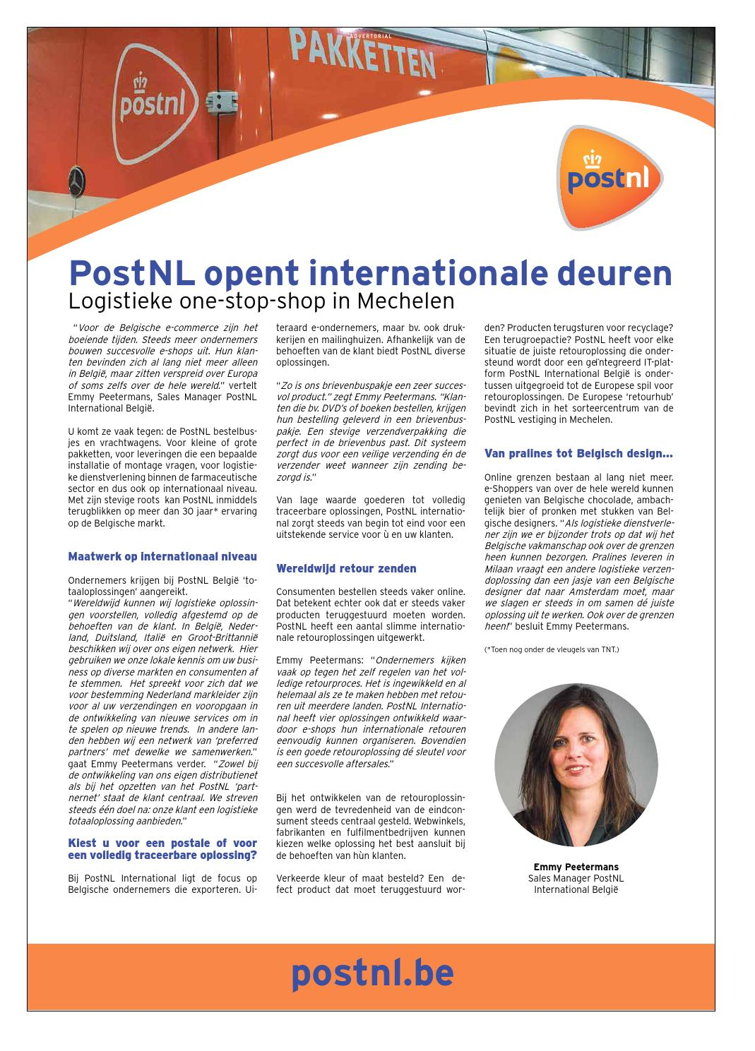 Brievenbuspakje Postnl Fokus International Business