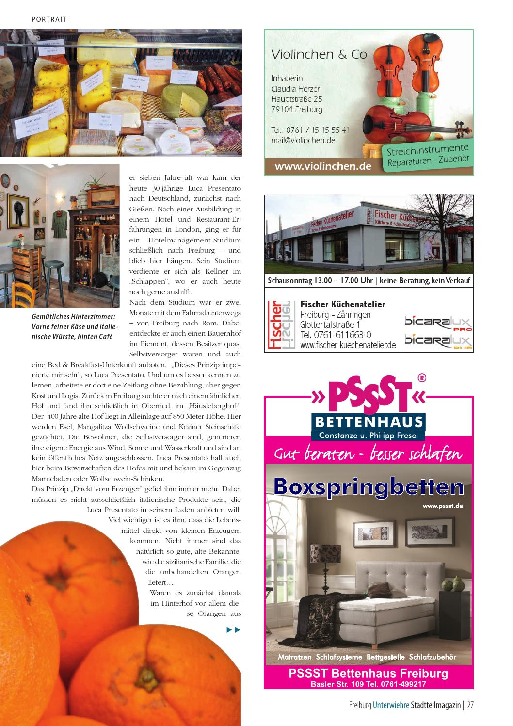 Bettenhaus Freiburg Wiehre Magazin April 2016