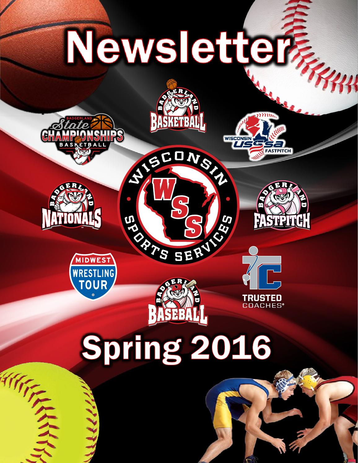 Wss Berlin Wss Spring 2016 Newsletter By Wisconsin Sports Services Issuu