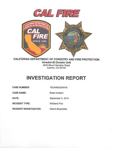 Butte fire investigation report by Union Democrat - issuu