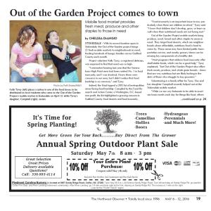 Flagrant Garden Project Warehouse Northwest Observer May 2016 By Pscommunications Issuu Out Garden Project Point Nc Out