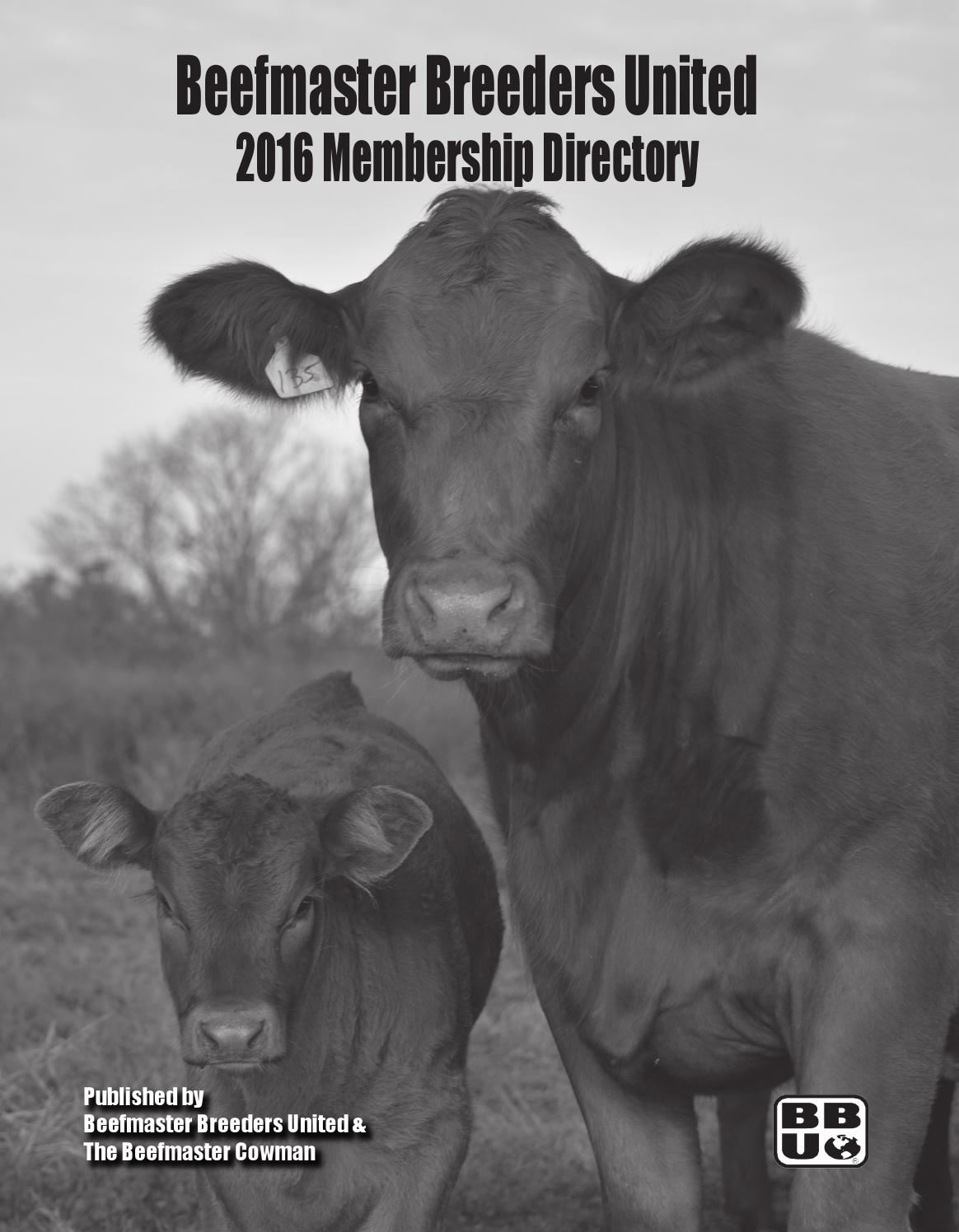 3771 Tivoli Garden Terrace Fremont Ca 2016 Membership Directory By Beefmaster Breeders United Issuu