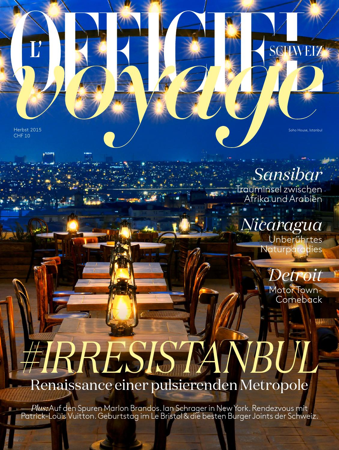 L Officiel Voyage No 03 Herbst 2015 Full Version By L Officiel Schweiz Suisse Issuu