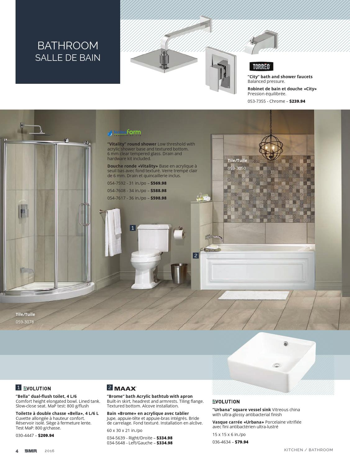 Kitchen And Bathroom 2016 By Groupe Bmr Issuu - Siège De Douche Design