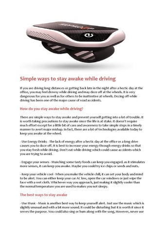 Simple ways to stay awake while driving by Stop Sleep - issuu
