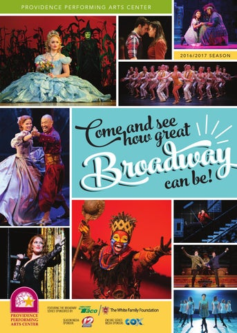 PPAC 2016/2017 Season Brochure by Providence Performing Arts Center