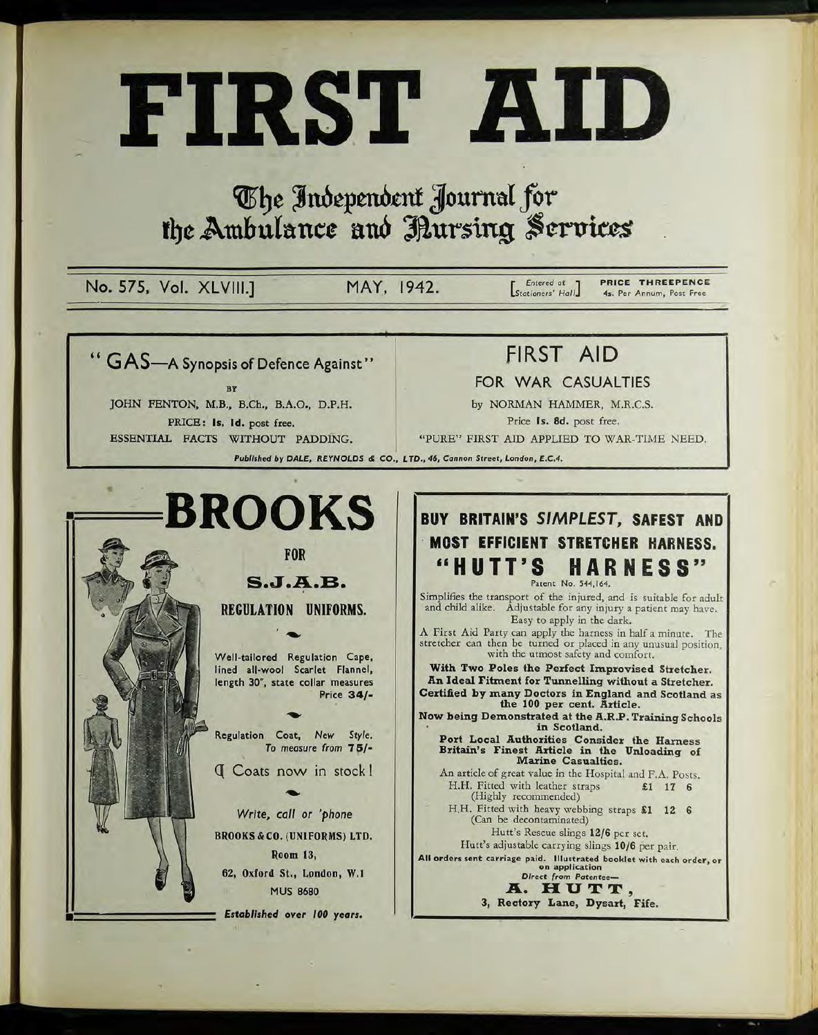 Arte Journal Junior Fr First Aid Journal 1942 1943 By Museum Of The Order Of St John