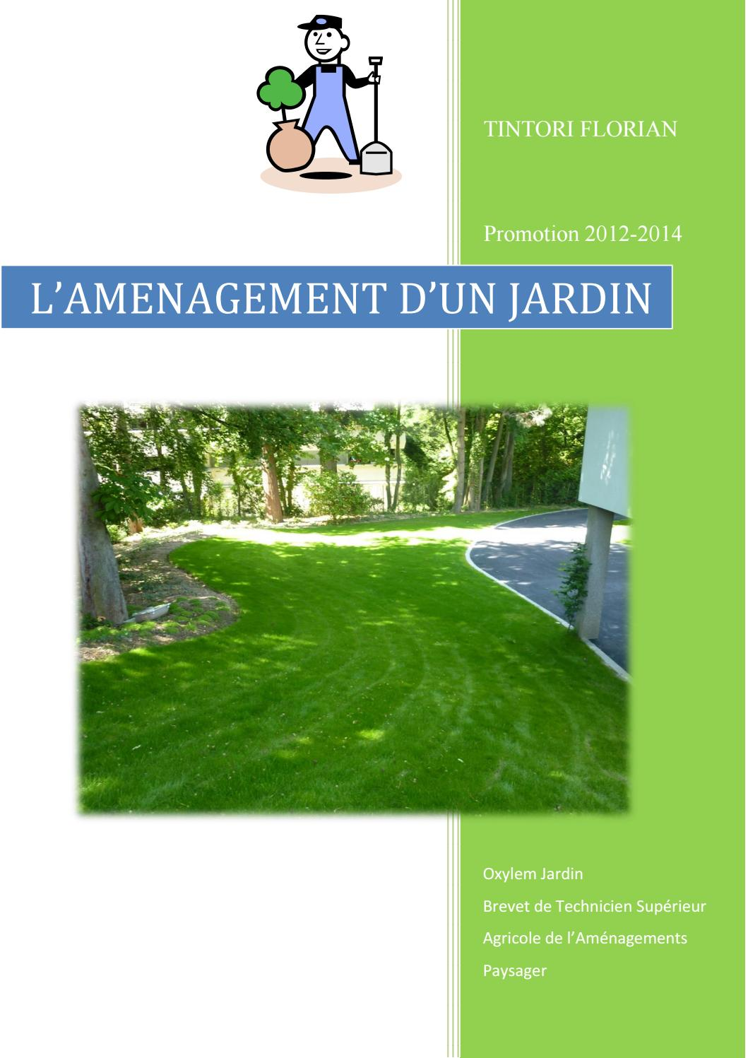 Amenagement Exterieur Def Rapport De Stage Btsa