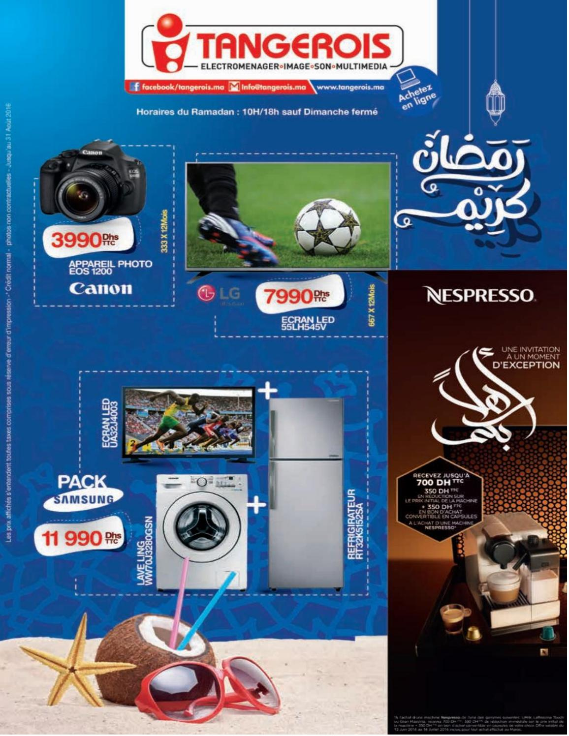 Catalogue Electromenager Catalogue Tangerois Electromenager Promotion Au Maroc 2016