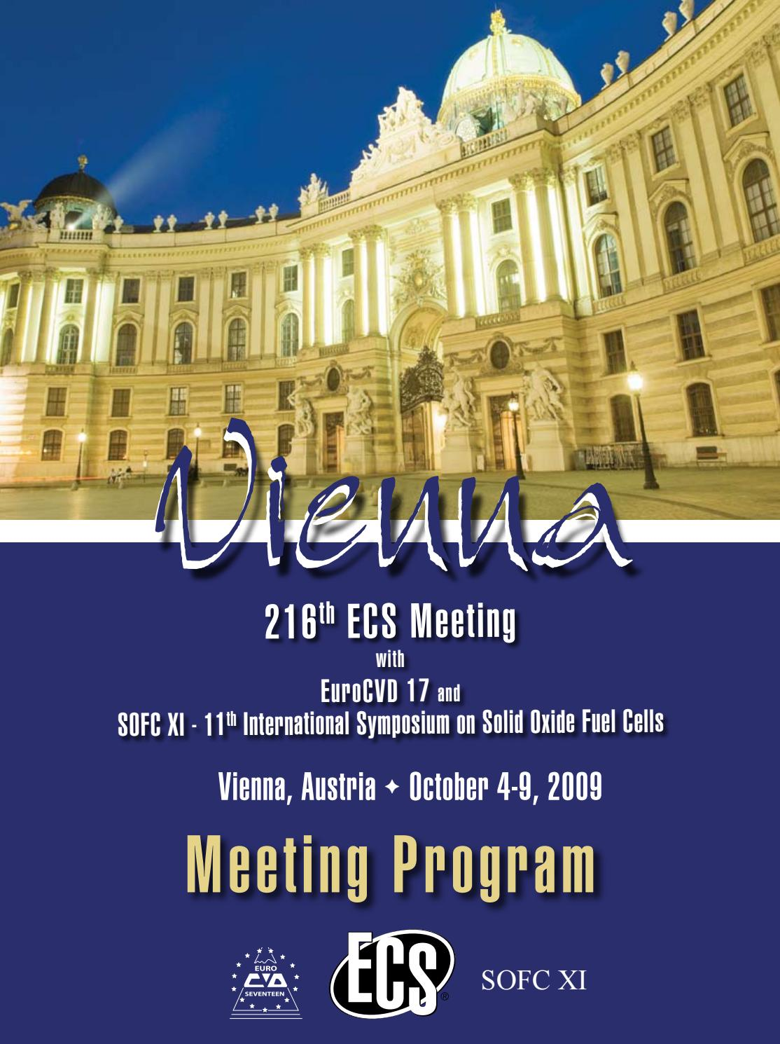 Sol Pvc Uni 216th Ecs Meeting Meeting Program By The Electrochemical Society