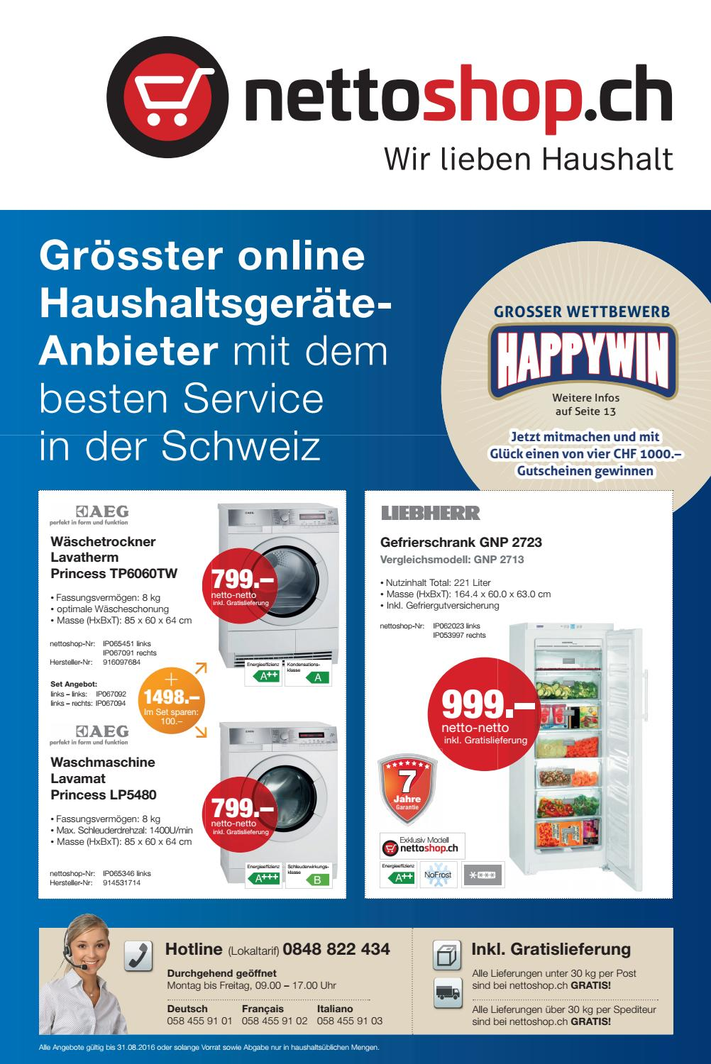 Klimagerät Nettoshop Nettoshop Ch Flyer 9 Deutsch August 2016 By Nettoshop Ch