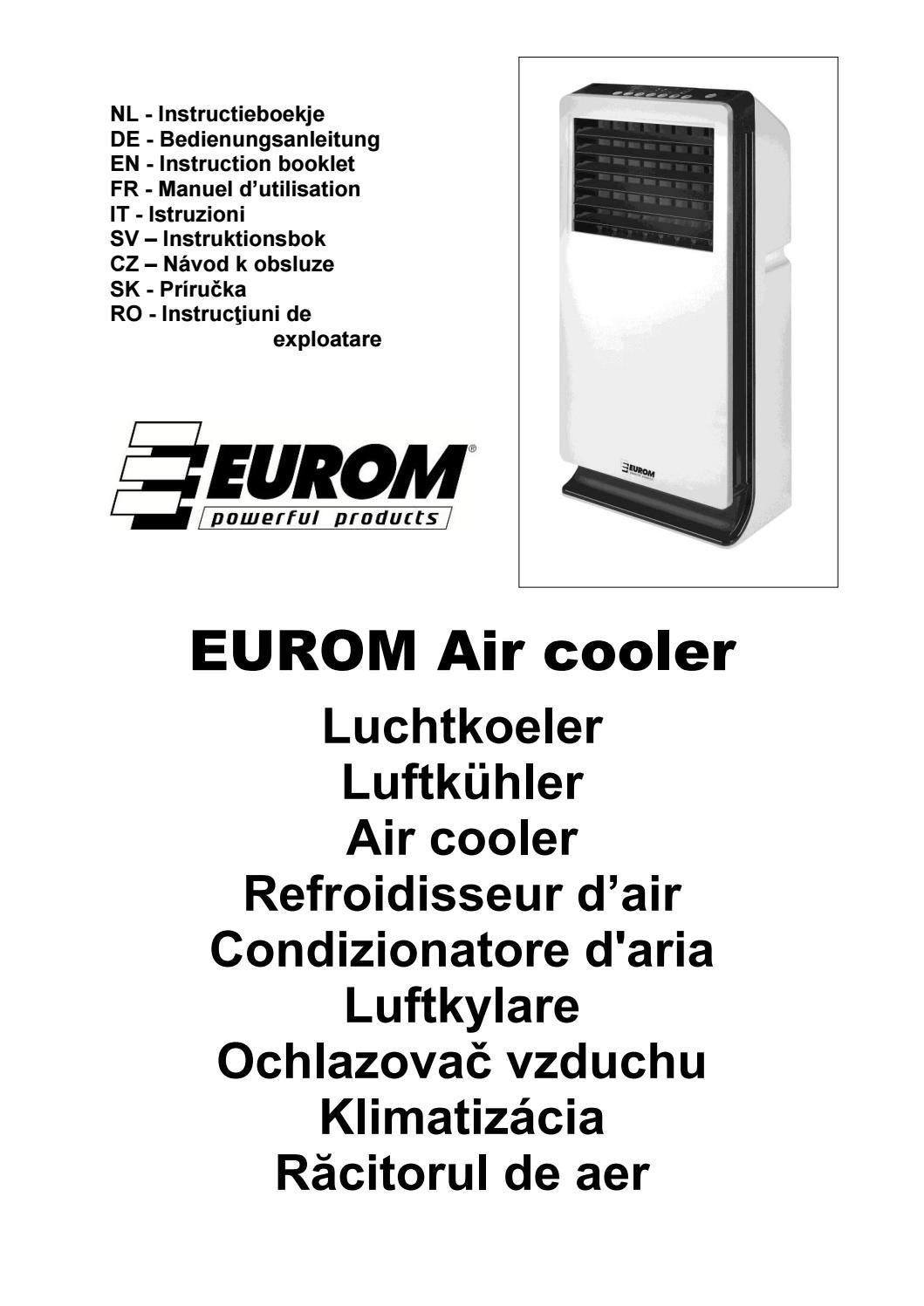 Aircooler Eurom Handleiding Aircooler By Powerfulproducts Nl Issuu