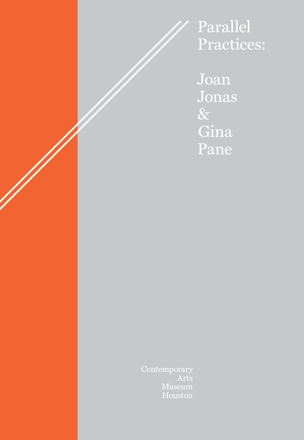 Tableau Moderne Vertical Parallel Practices Joan Jonas Gina Pane