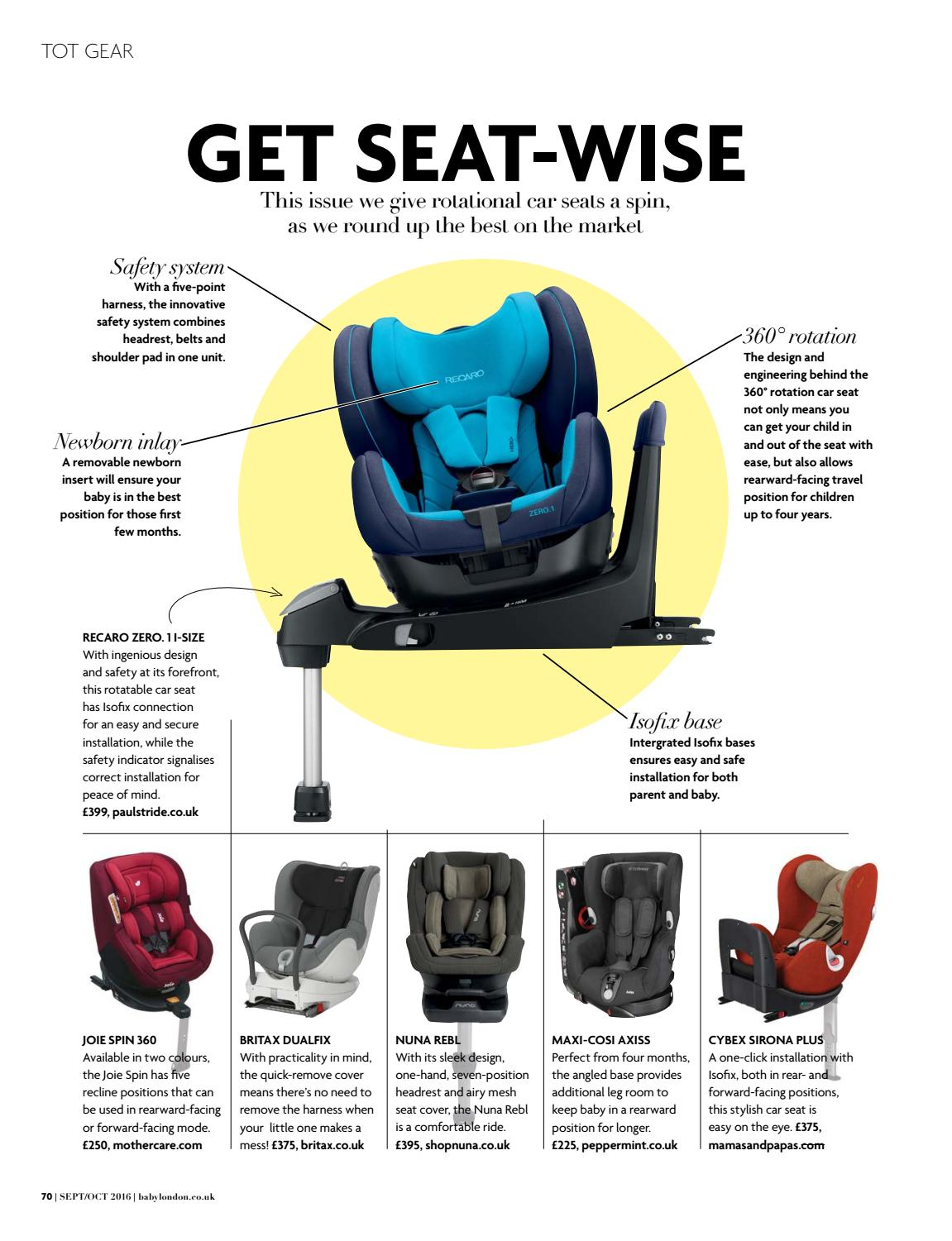 Joie 360 Isofix Installation Baby London September October 2016 By The Chelsea Magazine