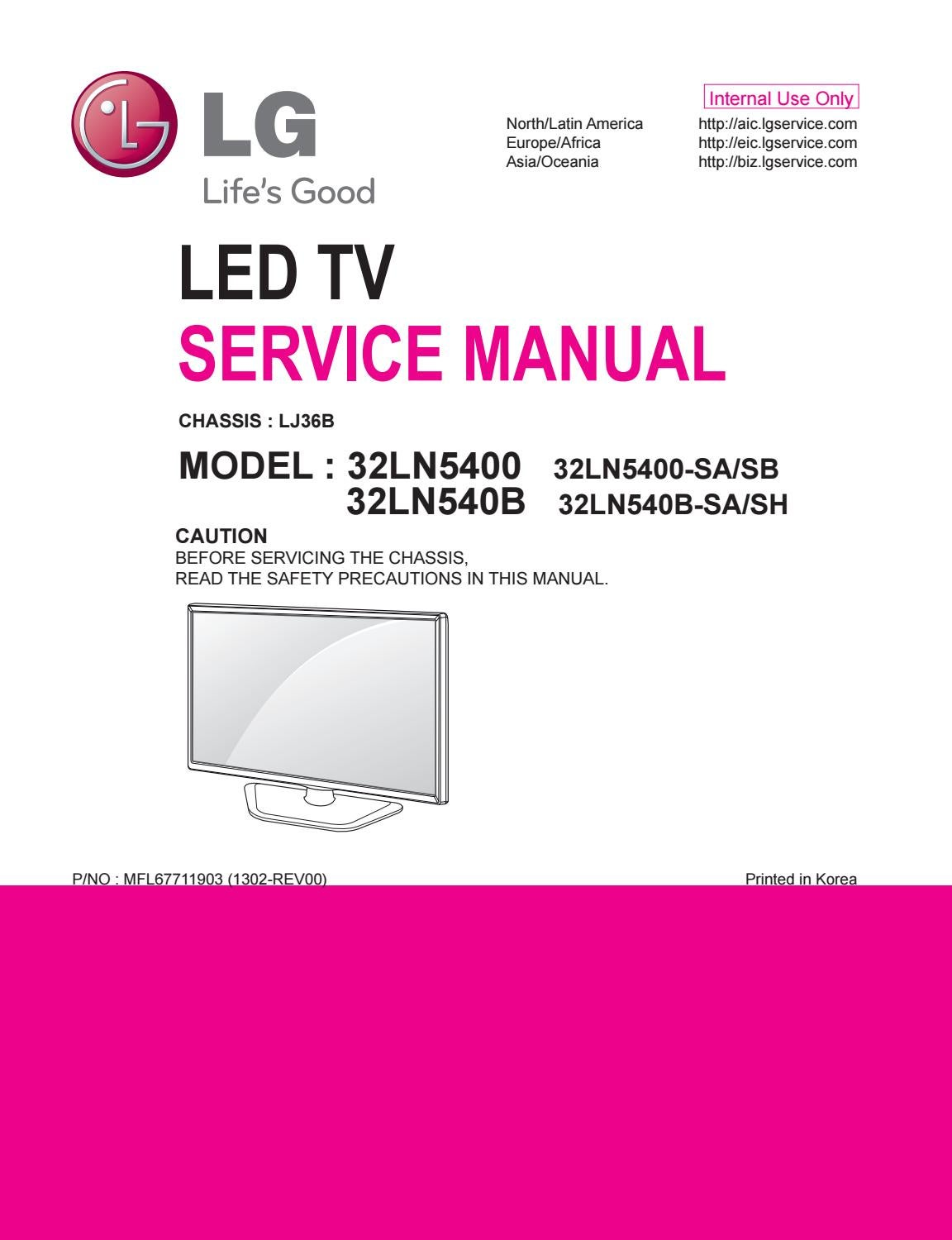 Jb Lighting A7 Zoom Manual Manual De Serviço Tv Lg Led 32ln5400 Sa E Sb E 32ln540b Sa E Sh