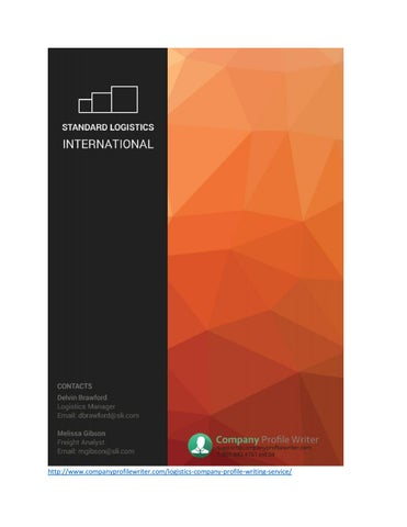 Logistics Company Profile Sample by Company Profile Samples - issuu