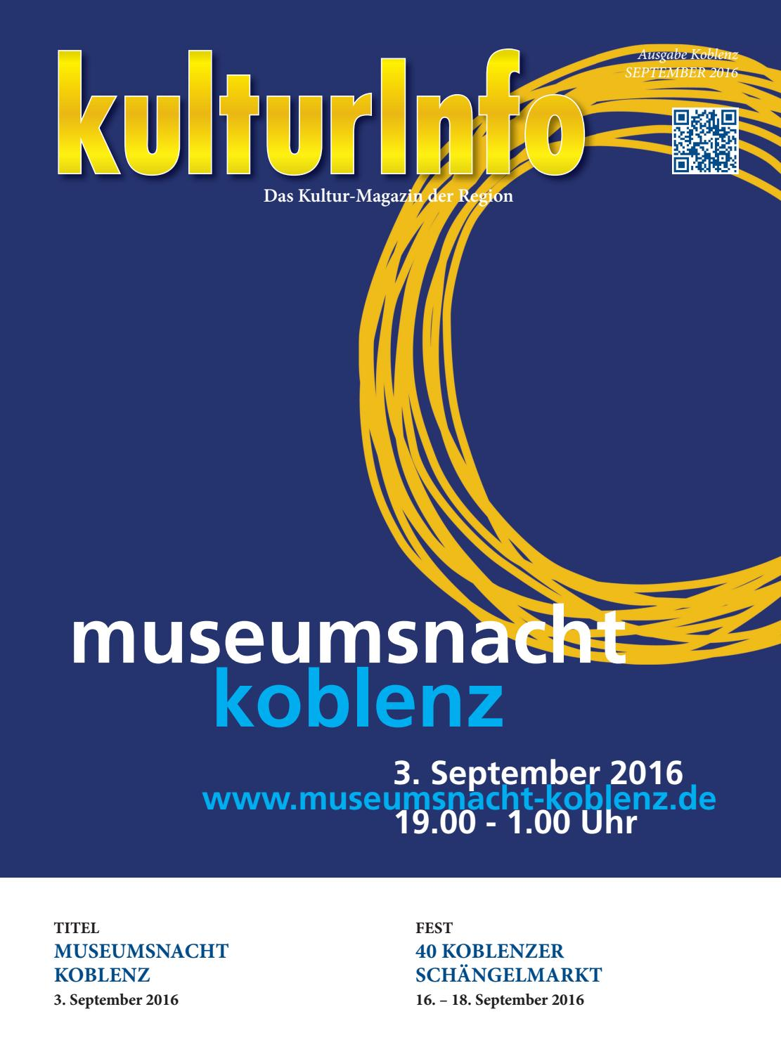 Kulturinfo September 2016 By Kulturverlag Koblenz Issuu