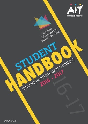AIT Student Handbook 2016-17 by Daniel Seery - issuu