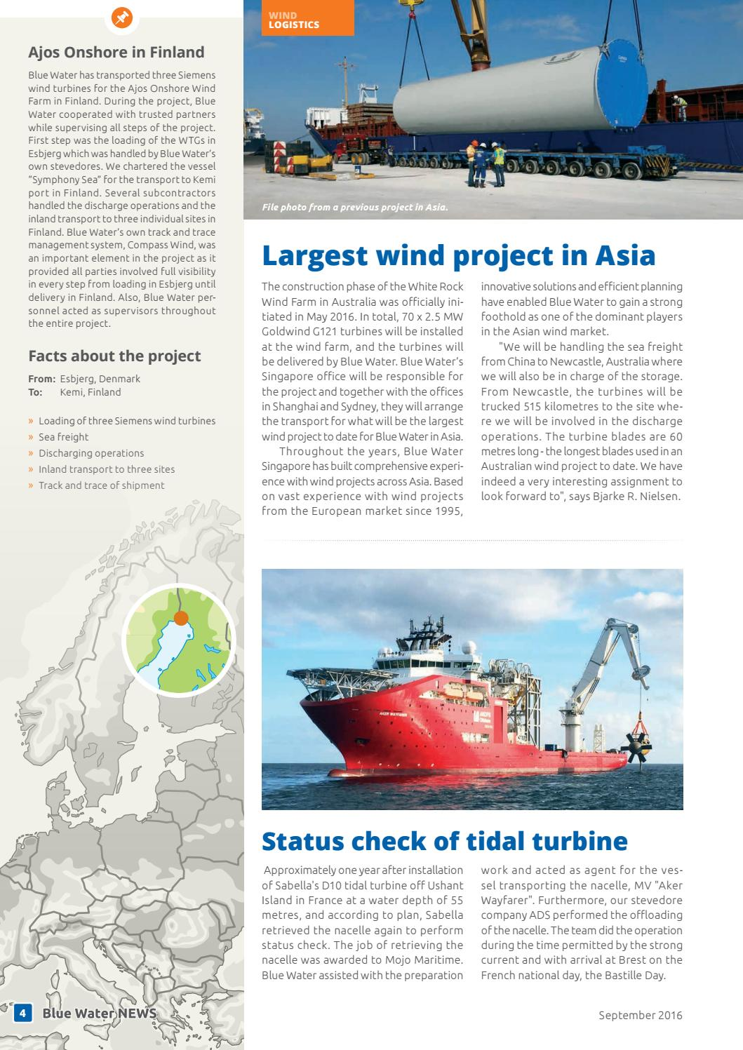 Location Nacelle Brest Blue Water News September 2016 English By Blue Water Shipping