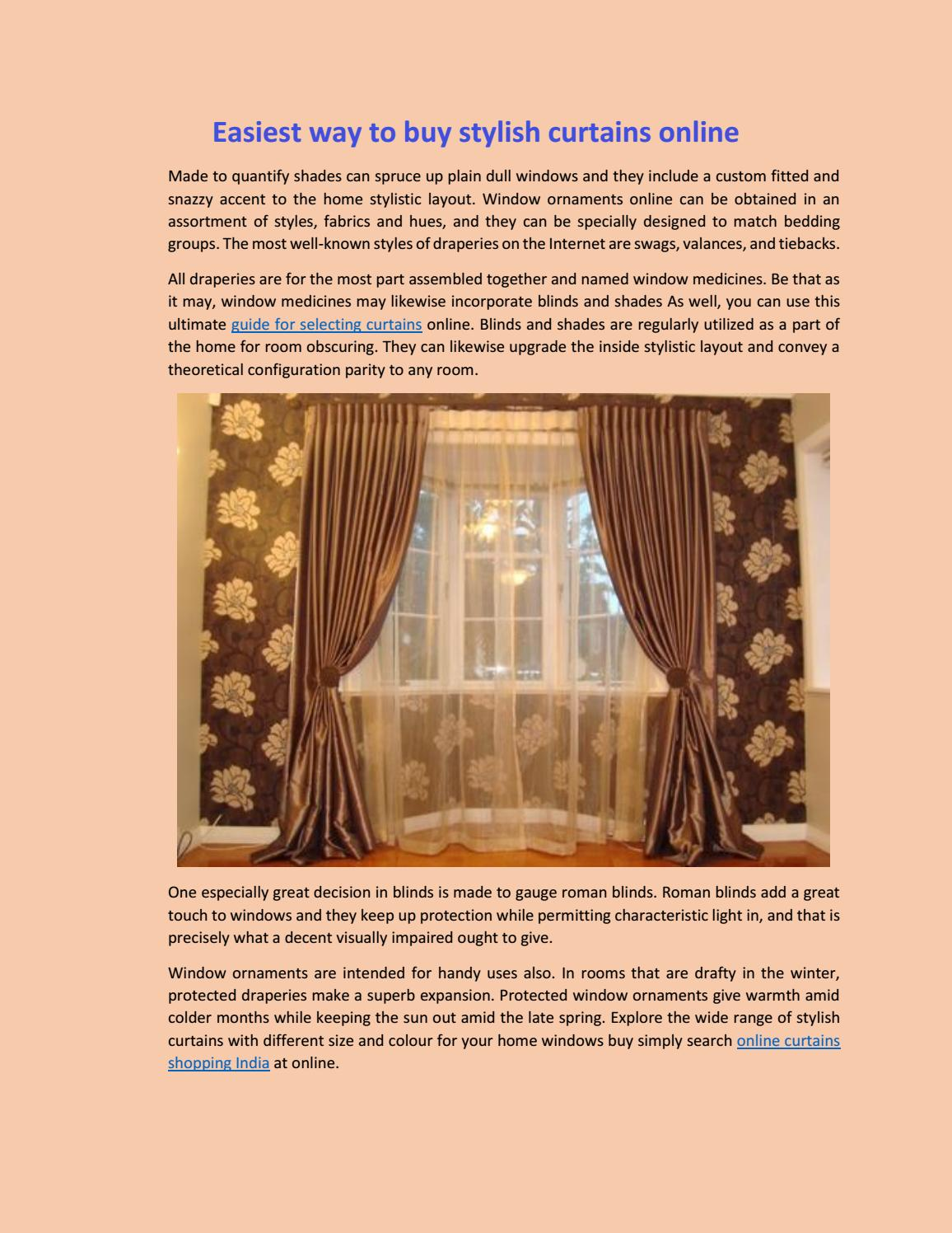 Buy Draperies Easiest Way To Buy Stylish Curtains Online By Siddhi Stylish