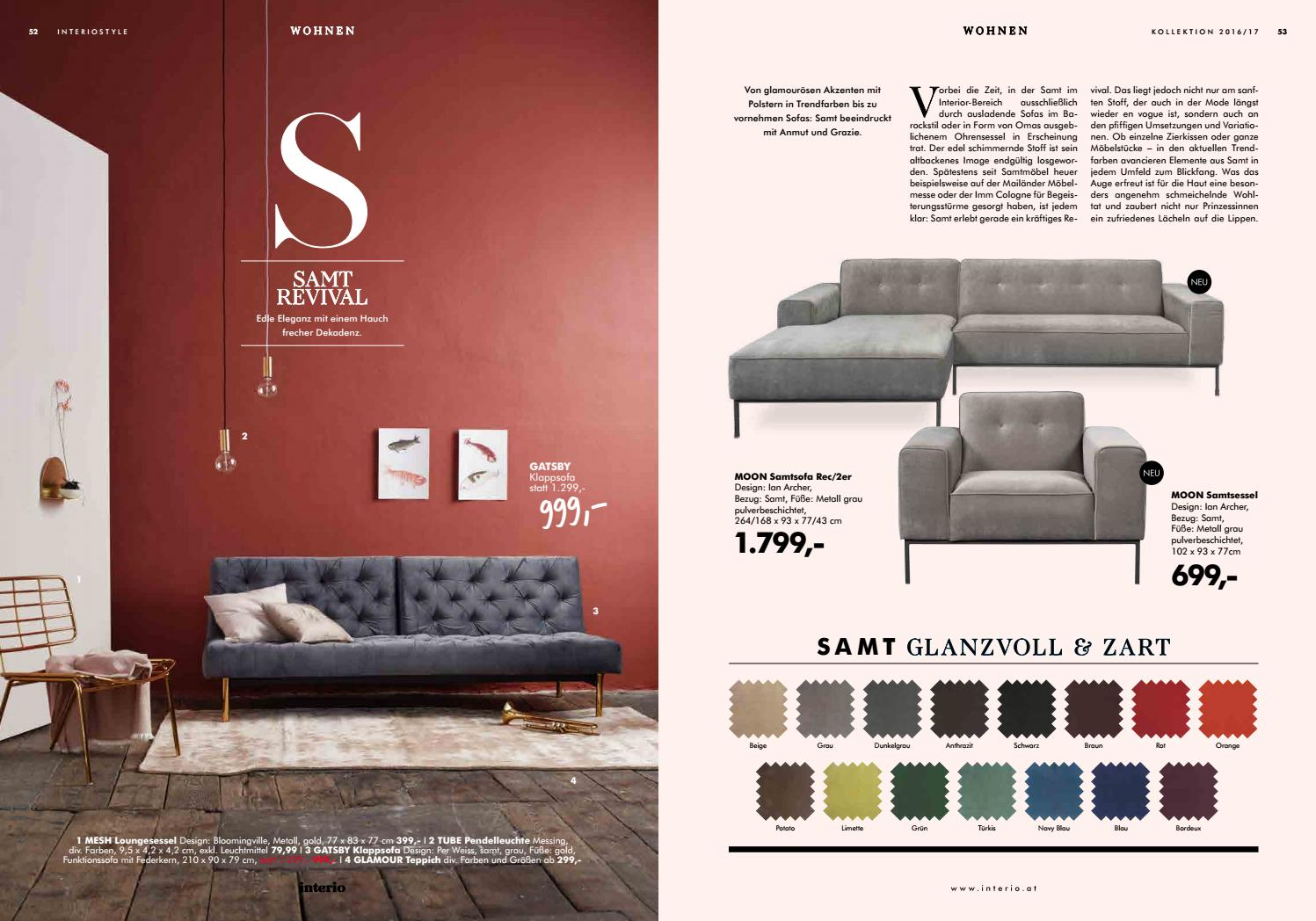 Interio Sofa Samt Herbstkatalog Interio By Interio Issuu