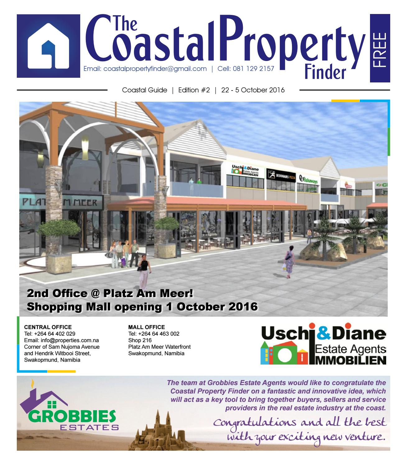 Namibia Immobilien Coastal Property Finder Issue 2 23 Sep 2016 By Coastal Property