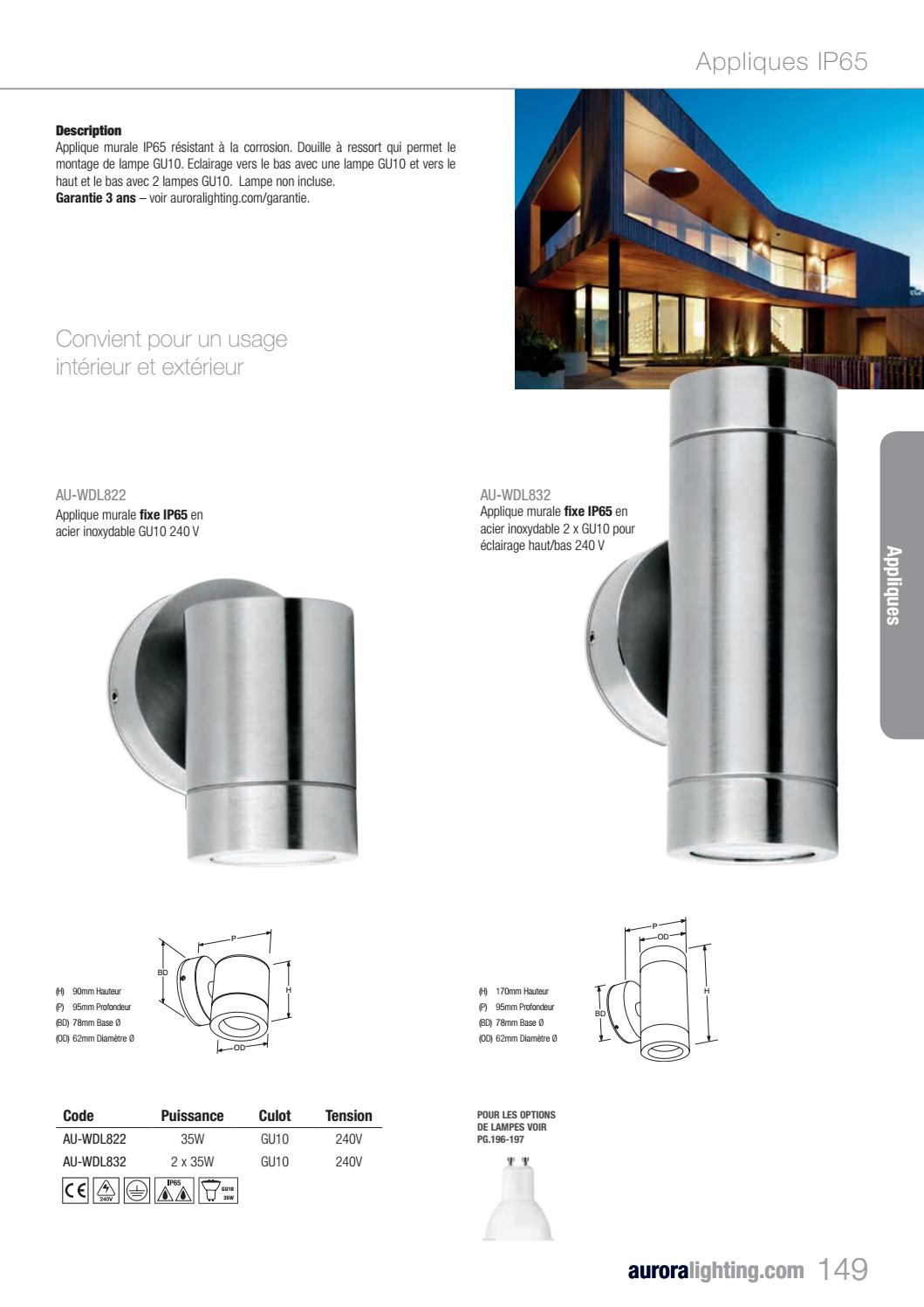 Eclairage Exterieur Mural Haut Et Bas Lighting 2 Trade France By Aurora Lighting Issuu