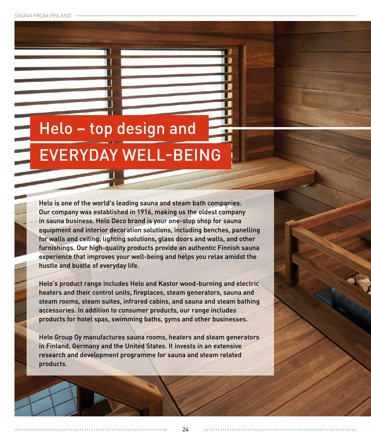 Sauna 24 Sauna From Finland Catalog By Sauna From Finland Issuu