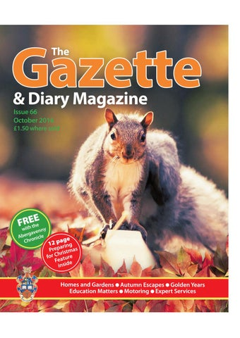 October issue of the Gazette and Diary 2016 by jenna hopkins - issuu