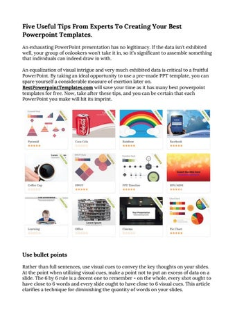 Five useful tips from experts to creating your best powerpoint