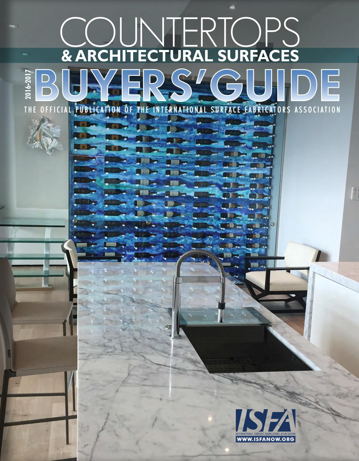 Isfa S Countertops Architectural Surfaces 2016 2017 Buyer S Guide By Isfa Issuu
