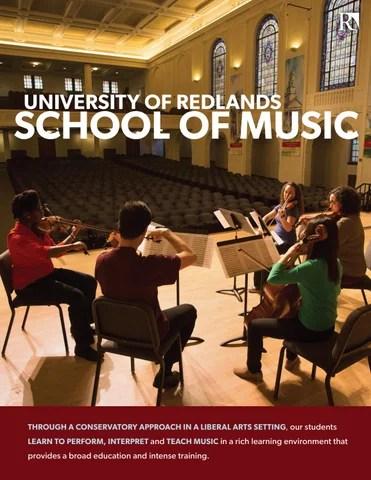University of Redlands School of Music Brochure by University of