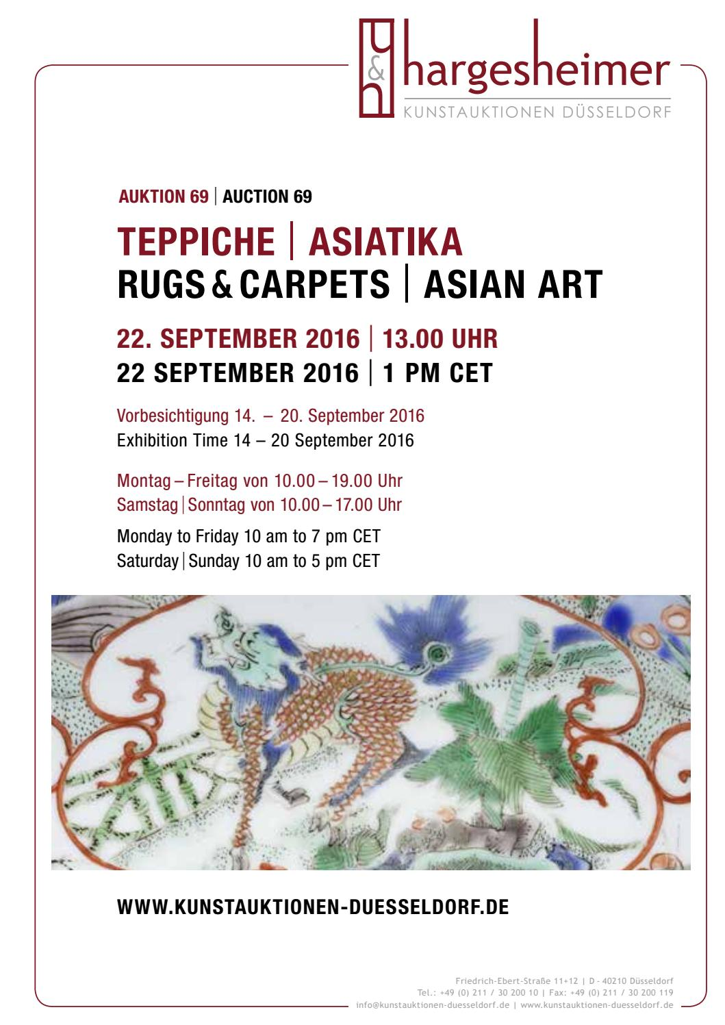 Teppiche In Düsseldorf 69 Auktion Teppiche Asiatische Kunst 22 September 2016 By