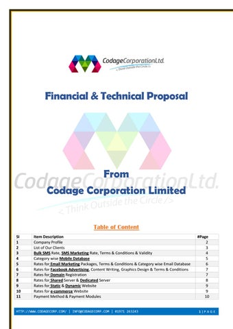 It services proposal from www codagecorp com best web design web
