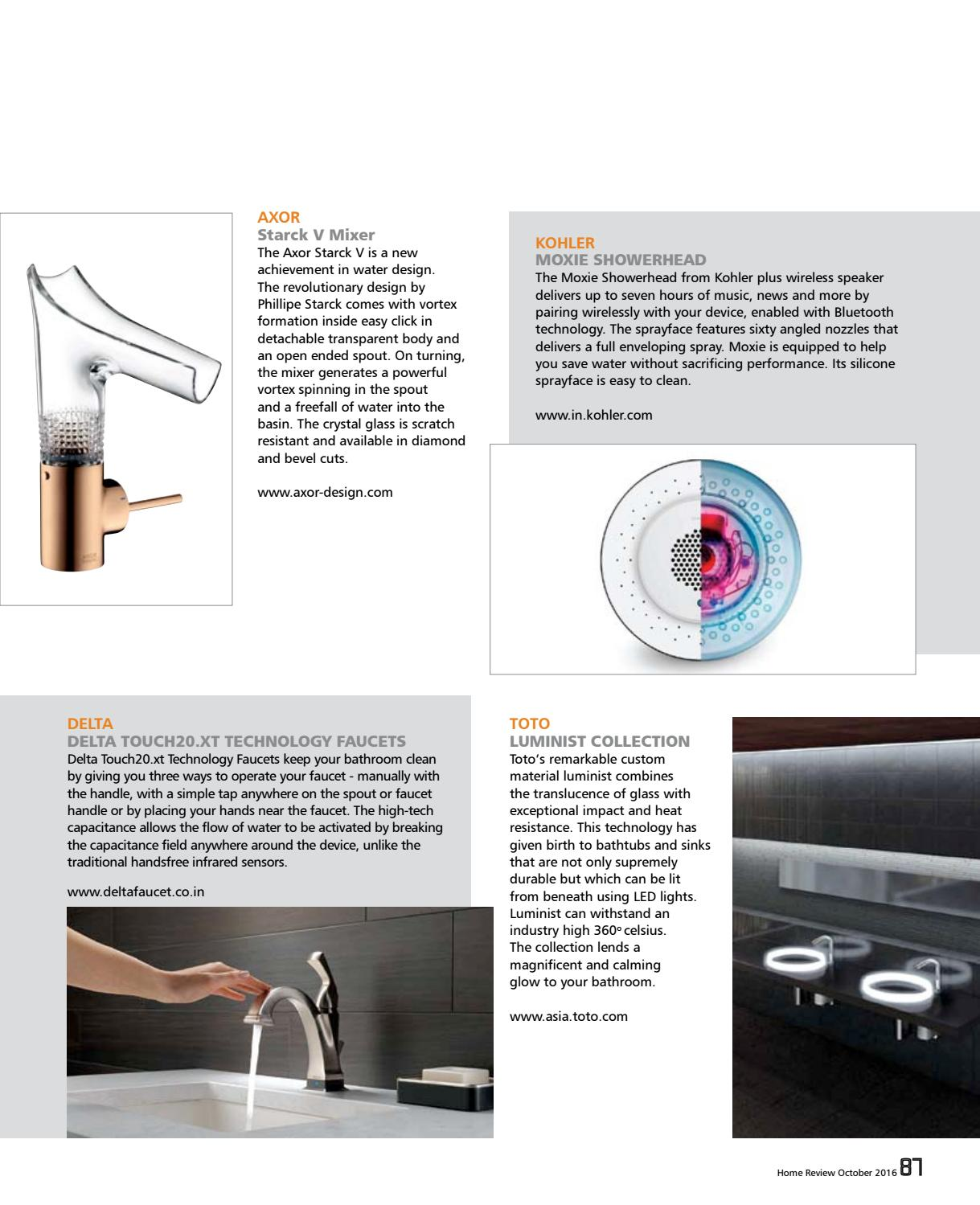 Axor Starck V Faucet Home Review October 2016 By Home Review Issuu