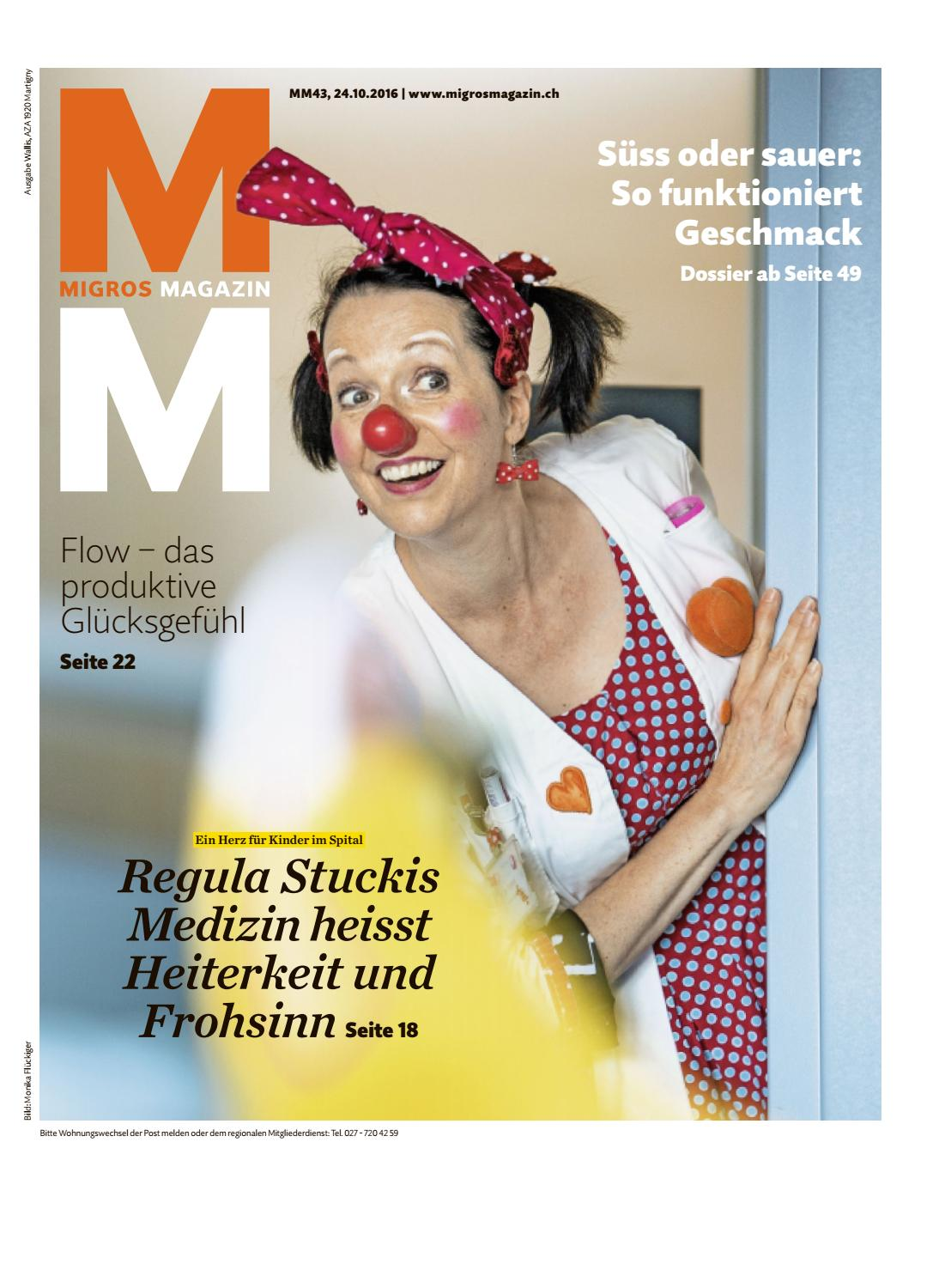 Clown Schminken Suess Migros Magazin 43 2016 D Vs By Migros Genossenschafts Bund Issuu