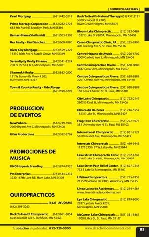 El Directorio - Minnesota Hispanic Directory 2016-2017 by Latino