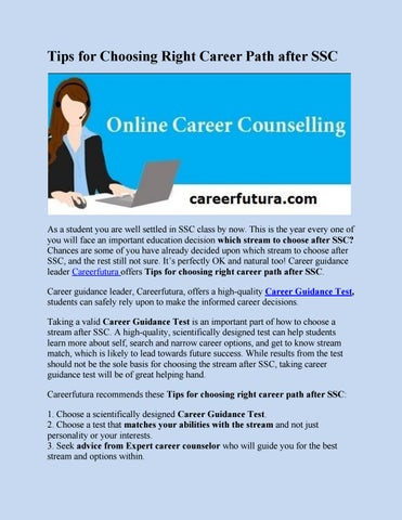 Tips For Choosing Right Career Path After SSCCareerfutura by