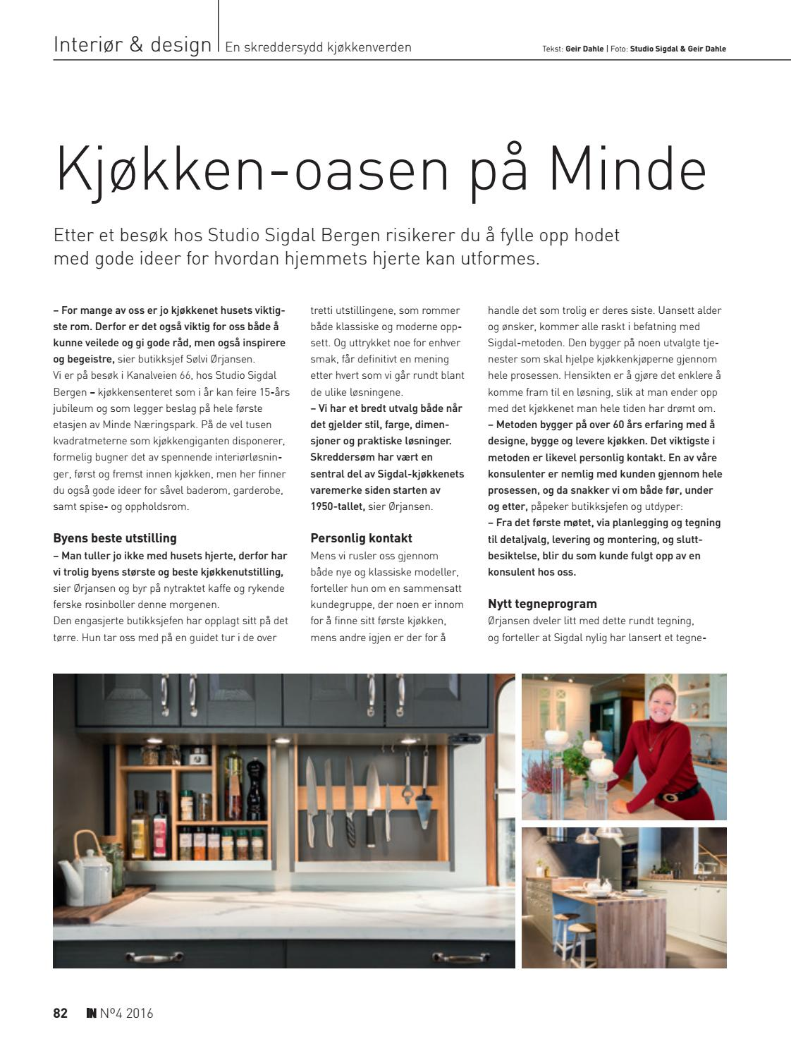 Studio Sigdal Bergen In Bergen 04 2016 By In Magasinet Issuu