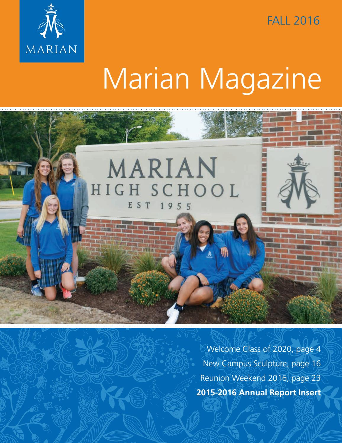 Marian Magazine Fall 2016 By Marian High School Issuu