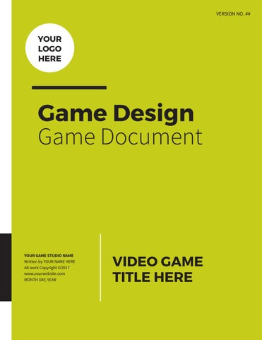 Professional Game Design Document by lhodgesdesign - issuu - game design doent template