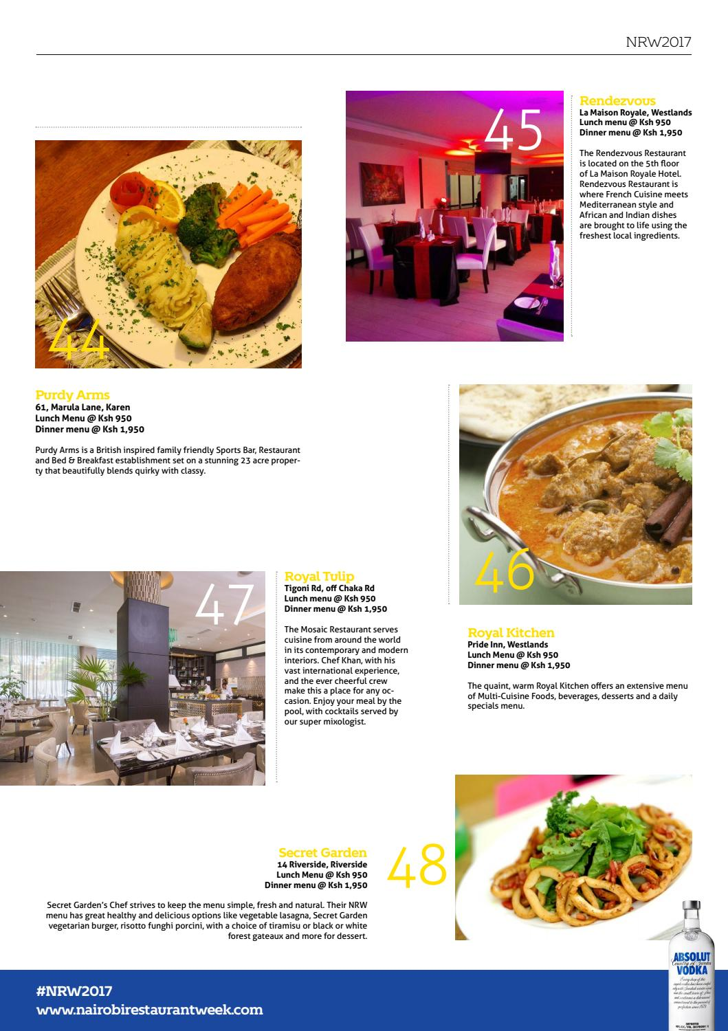 Cuisine Royale Guide Yummy Vol 27 Nairobi Restaurant Week
