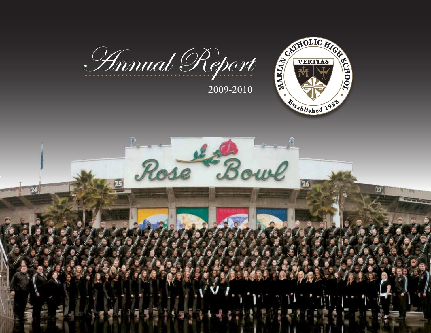 Annual Report 2009 2010 By Marian Catholic High School Issuu