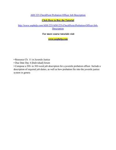Adj 225 checkpoint probation officer job description by pinck111 - issuu