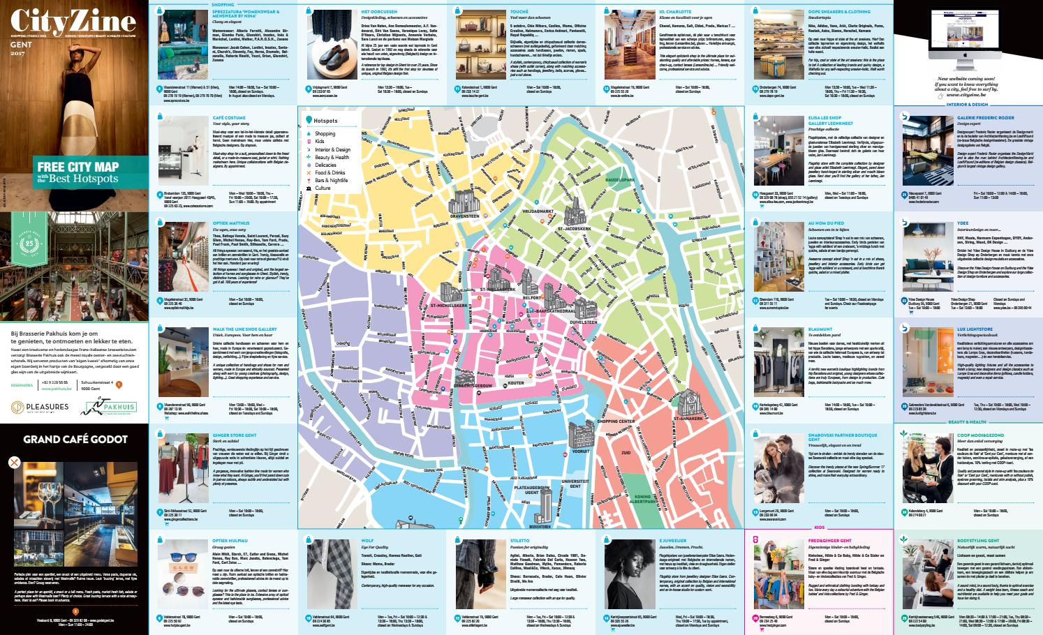 Design Verlichting Gent Steendam Gent City Map 2017 By Cityzine Issuu