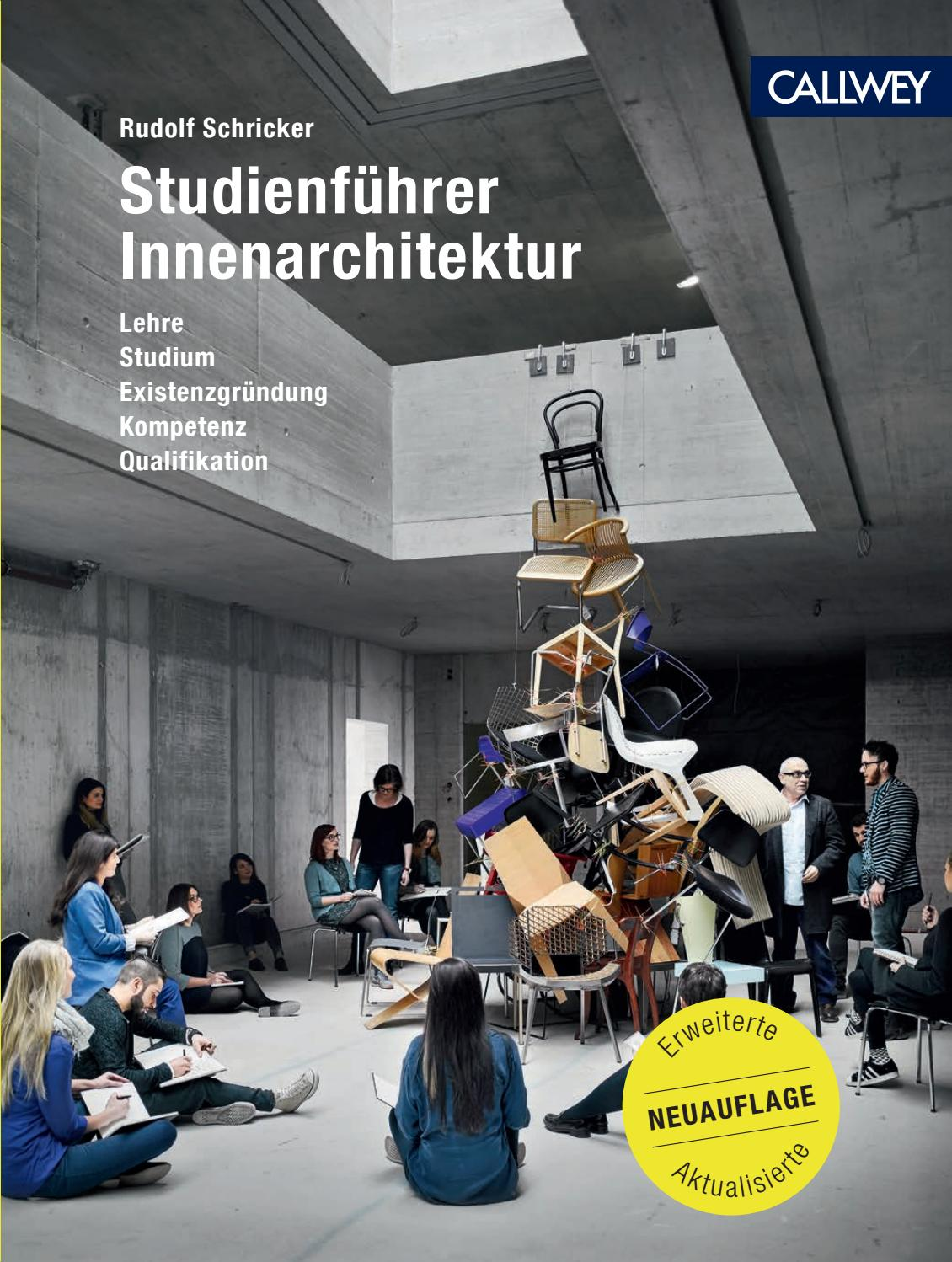 Innenarchitektur Ostwestfalen Lippe Studienführer Innenarchitektur By Georg D W Callwey Gmbh Co Kg